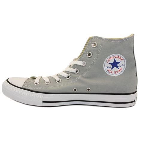 Conversehigh Grey Ct2 converse chuck all hi 136563c unisex laced canvas trainers grey