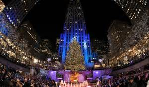 when is the tree lighting in nyc 2014 le rockefeller center illumine sapin morning