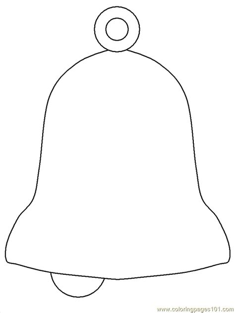 Christmas Bell Coloring Page Myideasbedroom Com Bell Coloring Pages