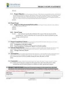 technical scope document template project scope statement template v2 3