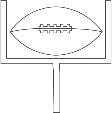printable football field goal coloringpagebook com