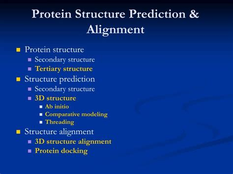 protein 3d structure prediction ppt protein tertiary structure prediction powerpoint