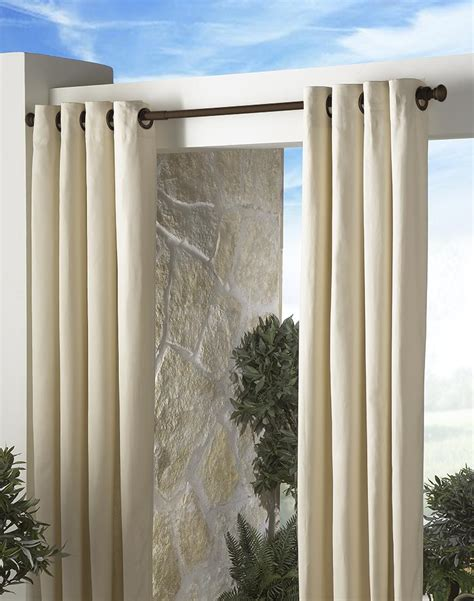 curtain rods for grommet drapes contemporary patio design with outdoor curtain rod and
