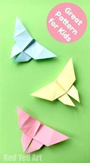 Traditional Origami Butterfly - easy origami butterfly ted s