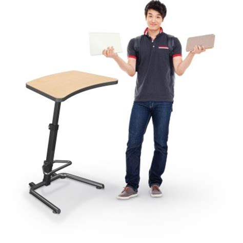 Up Rite Student Height Adjustable Sit And Stand Desk Standing Student Desks