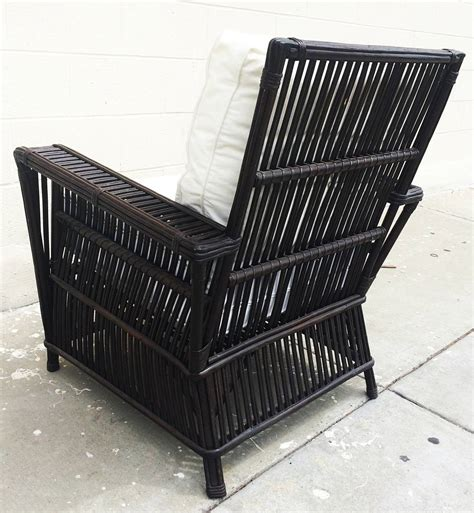 rattan armchair and ottoman wicker or bamboo patio chairs and sofa upholstered in