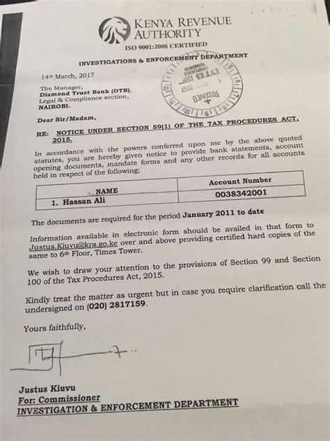 hassan joho siege kra targets bank accounts zipo