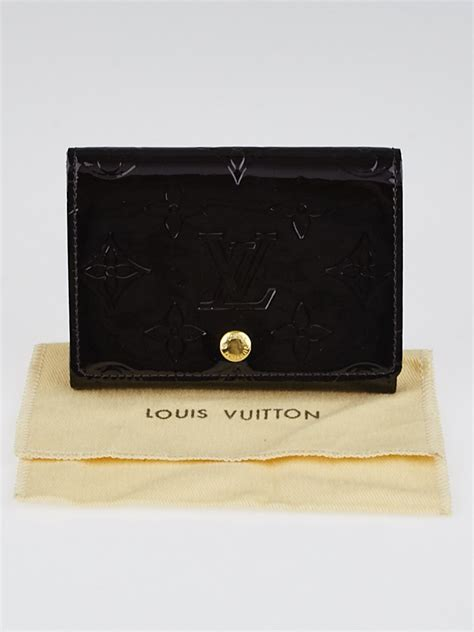 louis vuitton business card louis vuitton amarante monogram vernis business card