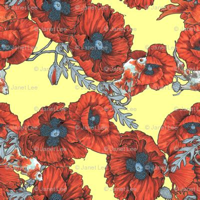 Other Designers As Seen In Nytimes Poppie Couture Fold Handbags by Poppies Koi Yellow Fabric Janetleeart Spoonflower