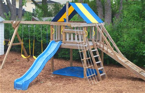 Vinyl Backyard Playsets Swing Set Plans To Build Wooden Swing Sets