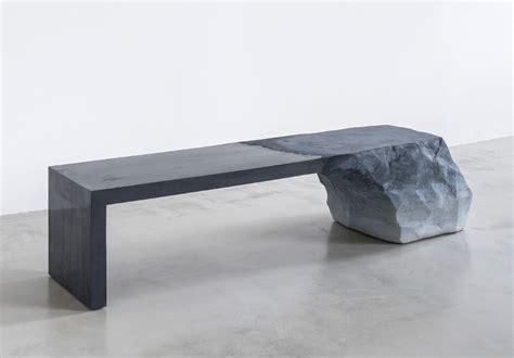 artists bench fernando mastrangelo presents sand cement bench at art