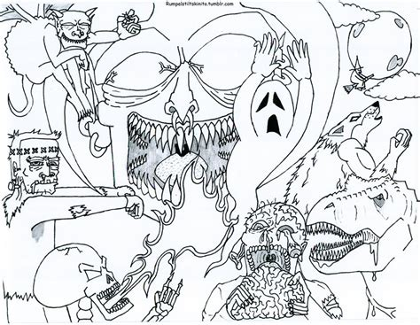 free printable halloween coloring pages for adults best