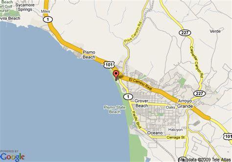 pismo california map map of sea venture resort pismo