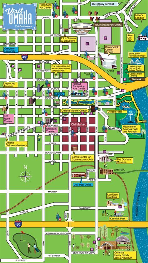 Search Omaha Downtown Omaha Map Td Ameritrade Park Omaha