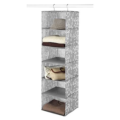 bed bath and beyond shelving 6 shelf hanging accessory shelves in grey bed bath beyond