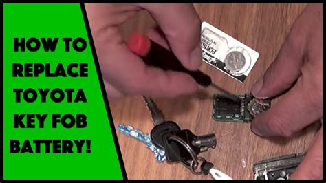 Change Battery Toyota Key Fob How To Replace The Toyota Key Fob Remote Battery