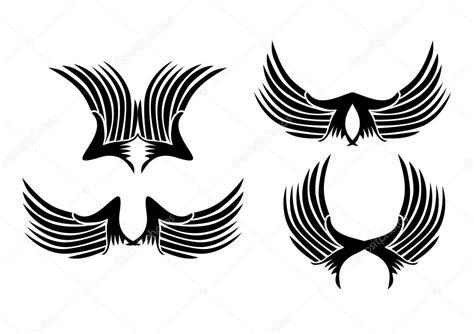 tribal tattoos vetor asas tribal vetor arte vetor de stock 169 a1vector