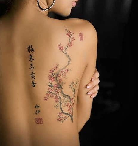8 Tatouages G 233 Niaux Au Niveau De La Colonne Vert 233 Brale Blossom Tree Back