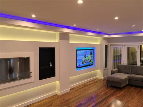 led lights for living room connolly s timber and flooring new showroom with leds