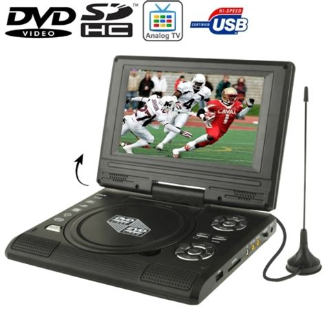 Dvd Tv Portable 7 7 5 inch tft lcd screen portable dvd with tv player support sd mmc card function usb