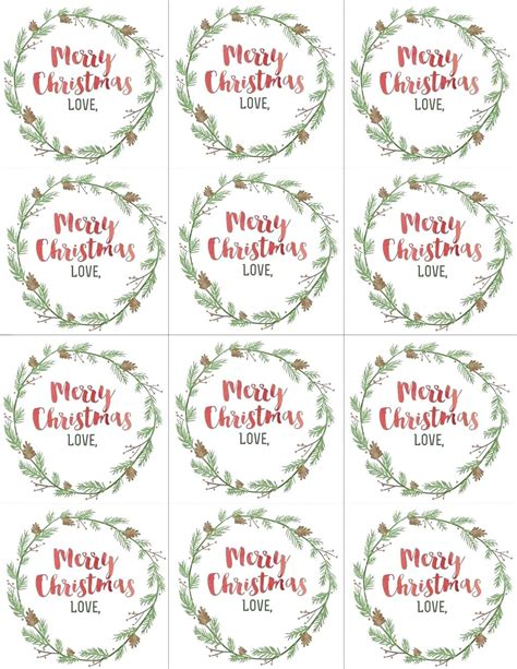 Template Merry Christmas Labels Template Merry Tags Template
