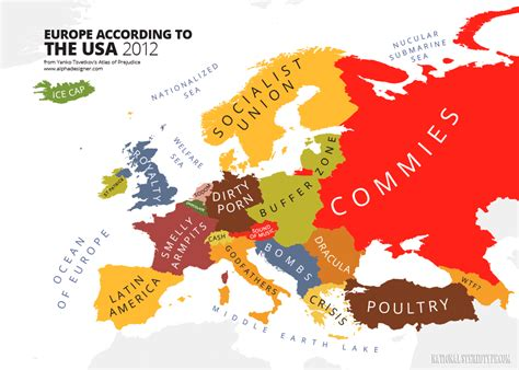 map usa and europe the mapping stereotypes national stereotypes