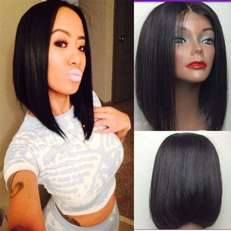 boutique layered wig for african american bob lace front human hair wigs glueless short lace front