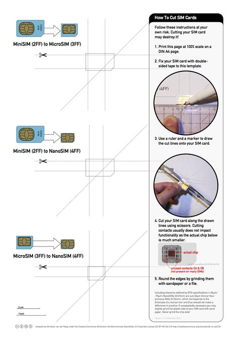 Iphone 5 Sim Card Cut Template printable guide for cutting microsim to nano sim for iphone 5