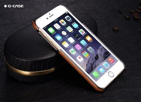g 174 apple iphone 6 6s ultra thin leather with electroplating inbuilt click metal stand