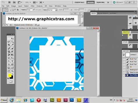 photoshop patterns install cs5 how to create a frame using a photoshop pattern cs5 cs4