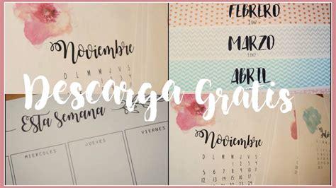 Calendario Organizador 2017 Para Imprimir Organizadores Planners 2017 Calendario Organizador
