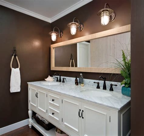 Coastal Bathroom Lighting Cottage Bathroom Lighting A Coastal Bathroom That Requires Simple Yet Chic Lighting