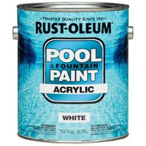 rust oleum 1 gal white acrylic pool and paint of 2 269354 the home depot