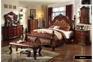 King Size Bedroom Furniture Sets Luxor Brown King Size Bedroom Set