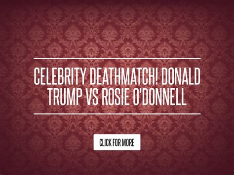 Donald Versus Rosie Odonnell A Real Lovehate Relationship by Deathmatch Donald Vs Rosie O Donnell