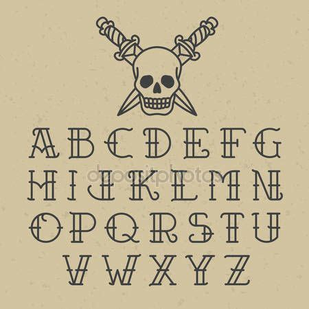 tattoo fonts letterpress old school tattoo font by alhovik bullet journal
