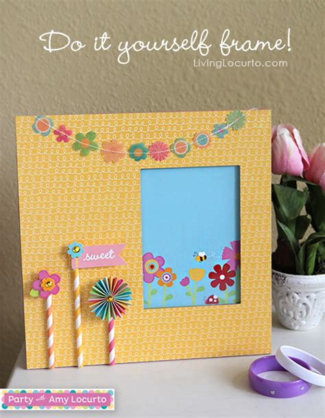 Diy Crafts With Scrapbook Paper - diy scrapbook frame craft tutorial