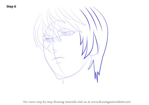 step by step death note hairstyle learn how to draw light yagami from death note death note