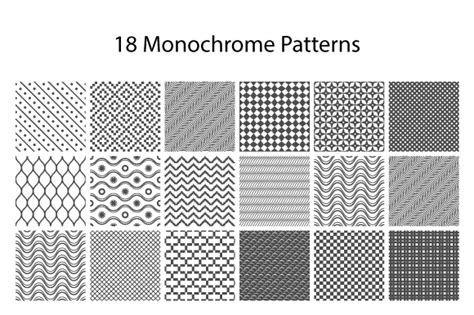 Monochrome Graphic 18 18 monochrome patterns patterns on creative market