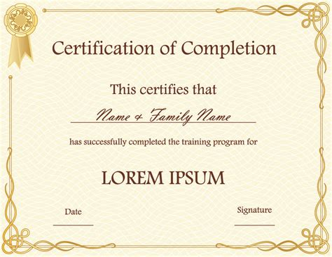 template for award certificate in microsoft word awesome award