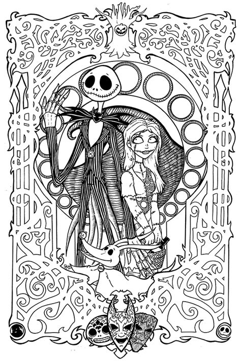 Nightmare Before Christmas Printable Coloring Pages Az A Nightmare Before Coloring Pages