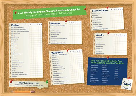 free download your care home cleaning schedule
