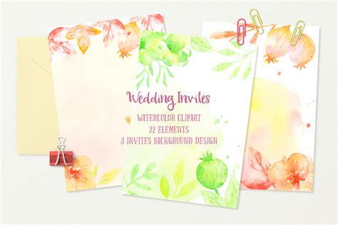 Wedding Background Orange by Watercolor Wedding Invites Background O Design Bundles