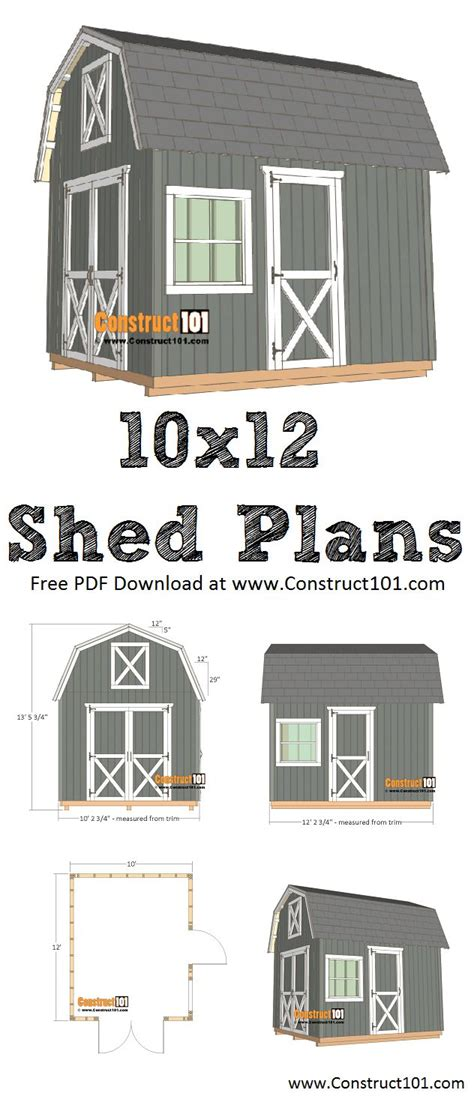 barn shed plans    material list