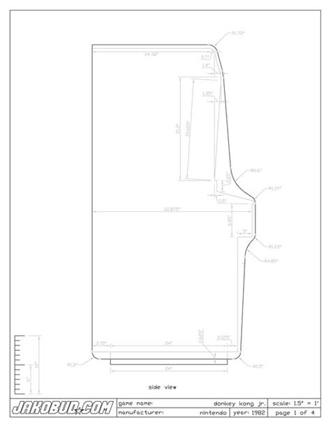Pacman Cabinet Plans by Donkeys And Kong On