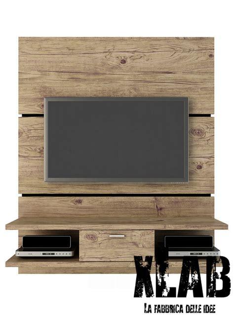 mobile da parete mobile porta tv da parete in legno massello vintage l 180