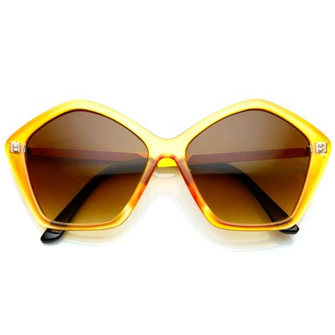 colorful sunglasses womens oversized colorful pentagonal geometric sunglasses