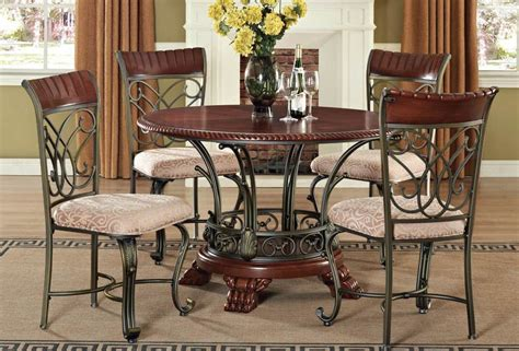 Metal Dining Room Chairs Metal Dining Room Set Marceladick