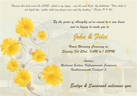 Invitation Letter Housewarming Ceremony House Warming Ceremony Invitation On Behance