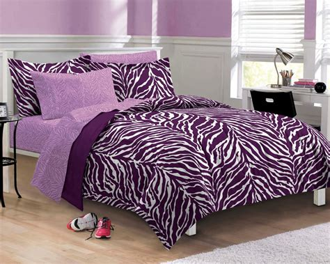 purple twin bed set purple zebra bedding twin xl full queen teen girl bed in a